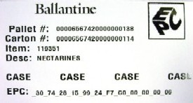 Packaging security: Ballantine Produce RFID-enabled label