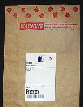 Packaging security: McCormick 50-lb. bag of spices