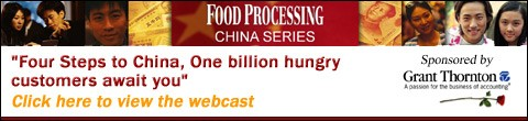 Ad image: Food Processing's Four steps to China webcast
