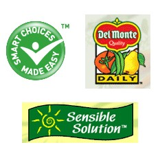 Kraft, Del Monte and PepsiCo healthy eating program logos