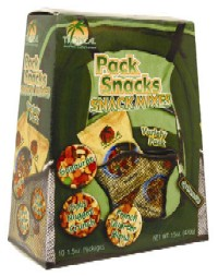 Pack Snacks - Gold Nugget Crunch, Sunburst and French Quarter varieties; Tropical Foods, Charlotte, N.C.