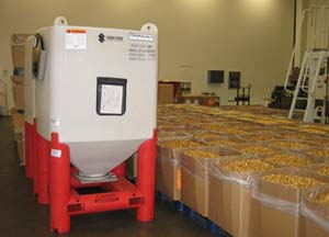 Plant Operations: One Plastic Hopper Bin Replaces 7-8 Boxes