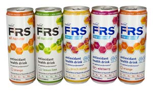 "Marketed as a ""health drink,"" FRS caffeinated, non-carbonated drinks are sweetened with organic cane or fruit juices."