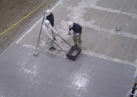 Valspar's Flowfresh is a urethane concrete overlay that contains Polygiene, a silver ion-based antimicrobial material that fights staph, salmonella, listeria and other harmful microbes that pose constant challenges to food safety.