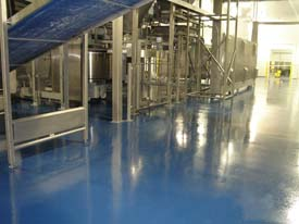 An anti-microbial floor was a key concern when Olympia Food Industries renovated an old factory building into a food processing facility.
