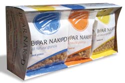 Bear Naked projects an image of healthy snacks for active individuals and professional athletes.