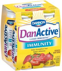 DanActive's probiotic bacteria help boost the body's immune system.
