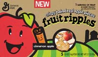 Made from baked apples, General Mills Fruit Ripples account for a full serving of fruit.