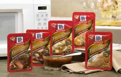 McCormick chose a flexible package for the Finishing Sauce line