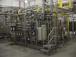 This pre-fabbed dairy system was engineered, built and put on skids for months before final installation.