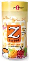 Z Sweet and Z Sweet Organic All-Natural Sweetener; Ventana Health, San Clemente, Calif.; Suggested retail price for a 7.0-oz. box of 50 packets is $9.99