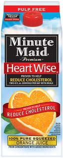 "Proven to help reduce cholesterol"" is such a powerful marketing message, Minute Maid says it twice. That's also how many times a day you should drink the orange juice."