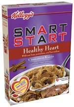Kellogg claims Smart Start Healthy Heart was the first national cold cereal containing the oat bran that may help lower cholesterol.