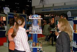 IFT is not all about ingredients. Tetra Pak displayed packaging solutions in its booth.