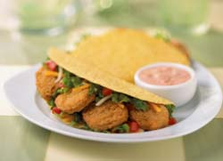ConAgra Food Ingredients helped Tyson Food Service develop a healthier chicken nugget for schools with breading made of whole-grain flour.