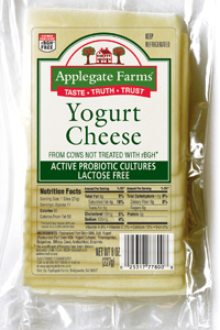 Pre-sliced yogurt cheese contains probiotics in every slice