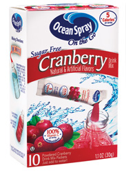 With the launch of its Sugar-Free Drink Mixes, Lakeville-Middleboro, Mass.-based Ocean Spray makes it easier to keep diet resolutions by offering nutritious, deliciously flavored drink alternatives that consumers can feel good about.