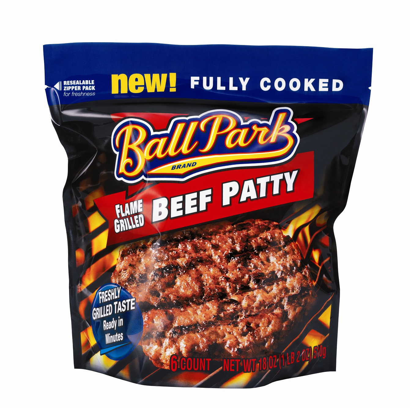 New Food Products Ball Park Flame Grilled Patties
