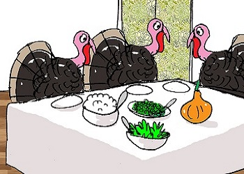 November Food Funny Cartoon homepage