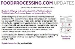 Food Processing Update
