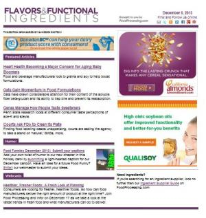 Flavors and Functional Ingredients